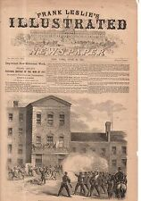 1861 Leslie's - June 29 - Federal Troops fire on citizens in Saint Louis MO