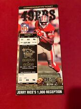 JERRY RICE 1000 RECEPTION 49ERS COMMEMORATIVE TICKET NFL 11-3-1996