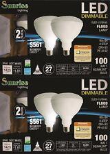BR40 LED 15W 2700K Warm White Indoor/Outdoor Flood Light 4 Bulbs 100 Watt