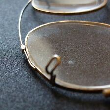 ANTIQUE CLIP-ON GLASSES-SPECTACLES-VINTAGE-VTG-OLD-EYE WEAR-COLLECTIBLE