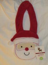 New Carter's Terrycloth CHRISTMAS Santa Claus Bib, Sz One Size (0-3 Months)