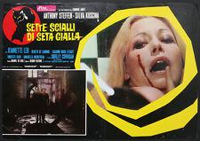CINEMA-fotobusta SETTE SCIALLI DI SETA GIALLA a.steffen