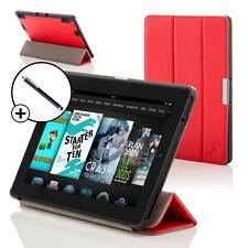 Pelle Rosso Pieghevole custodia Cover per Amazon Fire HD 7 2014 Gen Con Stilo