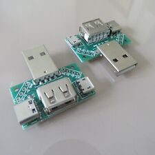 2Stk Multifunktional USB Adapterplatte mirco Type-c 4p 2.54 PCB Board platine