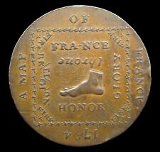 1794 MIDDLESEX 'A MAP OF FRANCE' HALFPENNY TOKEN - DH1016F