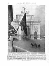 WWI Victory Festival New-York City Madison Square Triumphal arch ILLUSTRATION