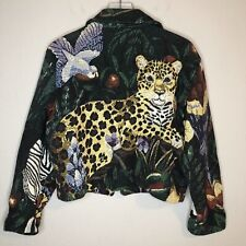 Midnight Lady By Paco Soler Tapestry Jacket Tiger Animals Size S/M