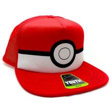 - New - Pokemon Poke Ball Youth Snapback Trucker Hat