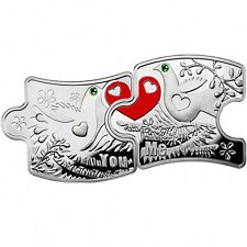 Niue 2012 2x1$ Love Puzzle YOU AND ME Silver Proof Coins