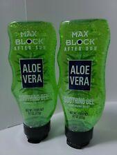 Aloe Vera Soothing Gel Moisturizing Relief Bundle Of 2 Squeeze Bottles