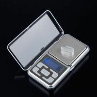 Neu 500g/0,1g Mini Digitale Taschenwaage Mikro Goldwaage Juwelierwaage Feinwaage