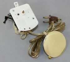 NOS SPARTUS ELECTRIC CLOCK FIT-UP MOVEMENT with PENDULUM BOB- WORKS! BX401