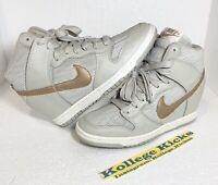 Nike Dunk Sky Hi Womens Gray Rose Gold Metallic Hidden Wedge 528899-013 Size 7