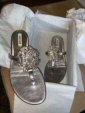 Roberto Cavalli Womens Sandal Size 36 $975.00 Retail New Leather Silver