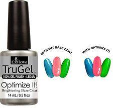 EzFlow TruGel Polish Optimize It! Brightening Base Coat - .5oz - 42596