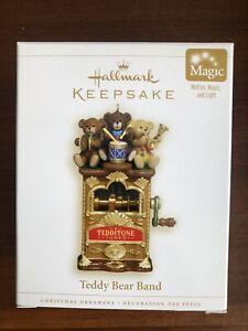 HALLMARK 2006 TEDDY BEAR BAND MUSICAL MOTION ORNAMENT