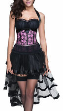 sexy Mini Kleid kurz schwarz Corsage + Rock Partykleid Korsett Pett Wäschebeutel
