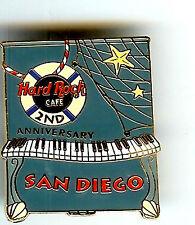 Hard Rock Cafe SAN DIEGO 2ND Anniversary Pin. RARE