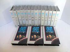 Lot of 17 Star Trek Vhs Tapes Tng Next Generation Columbia House 14 Still Sealed