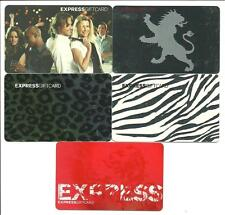 Lot of (5) Express Clothing Store Gift Cards No $ Value Collectible