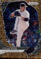 2020  Panini Prizm Baseball Logan Webb GOLD DIsco San Francisco Giants /25 #168