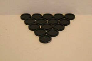 Connect Four 4 Checkers Mini 15 Black Replacement Game Pieces
