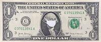 CORONA DOLLAR - USA 1 Dollar Banknote George Washington mit Mundschutz US $