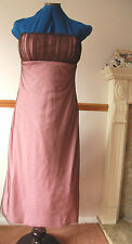 NEW Sz 8 Pink Jersey Bandeau A Line Dress with Brown Ruched Net Outer Party PROM