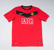 Manchester United Nike Red Home Football Shirt Boys Size L