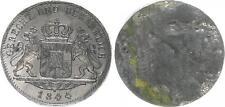 Bayern 1 Dukat einseitige Zinnprobe der Wappenseite 1844 vz