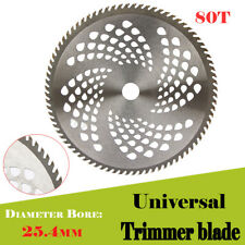 10'' 80T Teeth Carbide Tip Blade For Brush Cutter Trimmer Bore Diameter 25.4mm