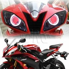 Full Assembly Headlight Red Demon Angel Eye Projector for Yamaha YZF R6 2006-07