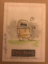 LORD OF THE RINGS MASTERPIECES 2: SKETCH CARD: CAVE TROLL BY KATIE COOK