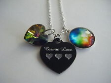 Spiritual Inspirational Child of The Universe/Cosmic Love Heart Necklace