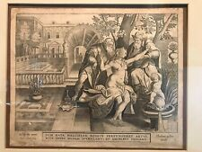 16th/17th OLD MASTER ENGRAVING - JAN COLLAERT & MARTEN DE VOS - SEDUCTION COA
