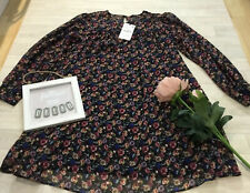 Zara L Vtg Floral Smock Mini Dress Long Sleeved Lined NEW Chiffon