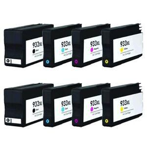 8 Ink Cartridges 932XL 933XL For HP Officejet 6100 6600 6700 7110 7510 7610 7612