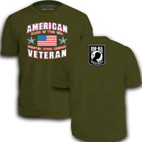 Mens American Made In The USA Veteran P.O.W Adult Military War New T-Shirt Top