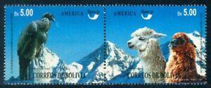 *Bolivia 1995 FAUNA Condor Bird Llama UPAEP 95 Yv.896/97 MNH