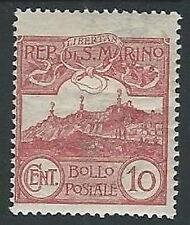 1903 SAN MARINO VEDUTA 10 CENT MH * - M23