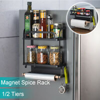 Magnetic Rack Organizer Spice Storage Shelf Kitchen Refrigerator Holder Tools