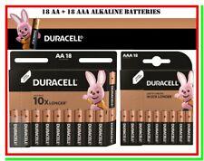 18+18 DURACELL Pile Batterie Stilo AA & Ministilo AAA Alcaline Scadenza 2030
