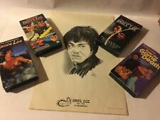 """""""BRUCE LEE"""" MARTIAL ARTS CHAMPION POSTER-VHS INSTRUCTION VIDEOS-KARATE'- WOW !"""