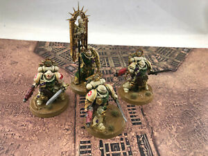 Warhammer 40k Space Marines Bladeguard (x3) + Ancient Painted Deathwing #1