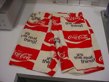 rare,UNUSED 1970's COCA-COLA MENS Button-FLY SHORTS w/belt loops/pockets