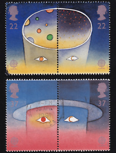 1991 Great Britain Man and Space Stamp Pairs USED