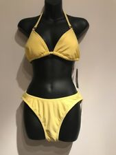 TOMMY HILFIGER YELLOW 2 PIECES BIKINI SWIMSUIT BATHING SUIT Size 12 NEW NWT
