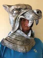 Silver Wolf Viking Helmet Mask Body Armour Latex Fancy Dress Hound Costume
