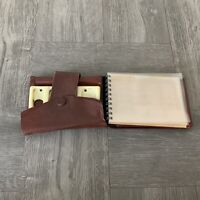 Mens Genuine Leather Antique Leather Mens Wallet w/ Change Coin Holder 1950s