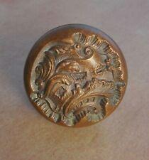 """Antique Reading """"Belfort� cast bronze brass door knob ornate vintage 1900"""